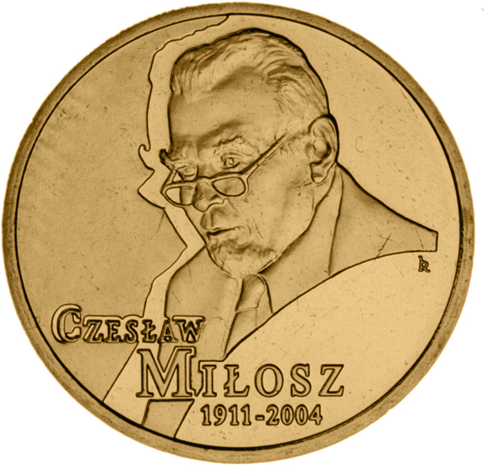 Image of 2 zloty coin - Czesław Miłosz (1911 - 2004)  | Poland 2011.  The Nordic gold (CuZnAl) coin is of UNC quality.