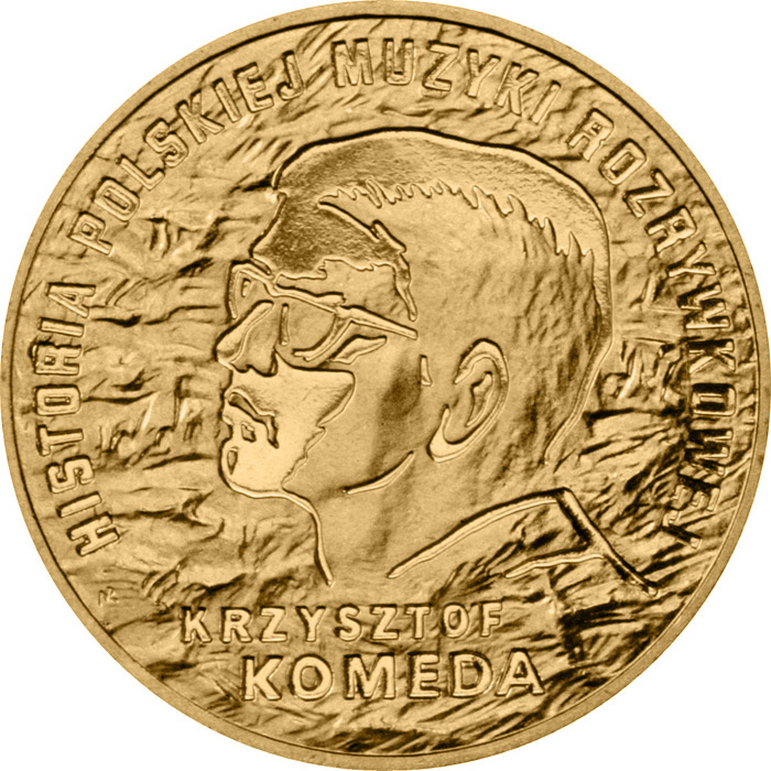Image of 2 zloty coin - Krzysztof Komeda  | Poland 2010.  The Nordic gold (CuZnAl) coin is of UNC quality.