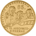 2 zloty 65th anniversary of liberation of KL Auschwitz-Birkenau  - 2010 - Series: Commemorative 2 zloty coins - Poland
