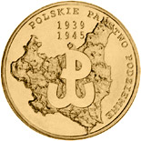 2 zloty coin 70th anniversary of creating the Polish underground state  | Poland 2009