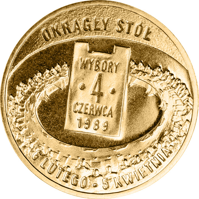 Image of 2 zloty coin - General elections of 4 June 1989  | Poland 2009.  The Nordic gold (CuZnAl) coin is of UNC quality.