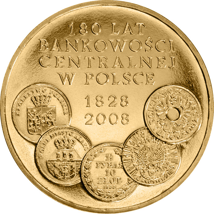 Image of a coin 2 zloty | Poland | 180 Years of Central Banking in Poland  | 2009