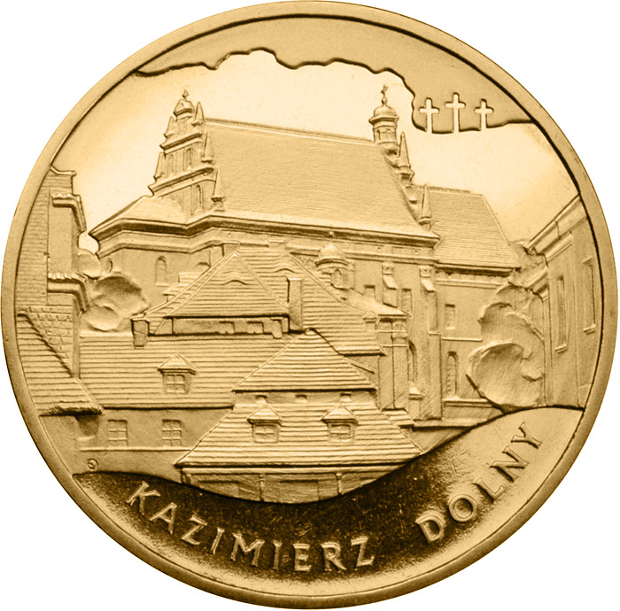 Image of 2 zloty coin - Kazimierz Dolny  | Poland 2008.  The Nordic gold (CuZnAl) coin is of UNC quality.