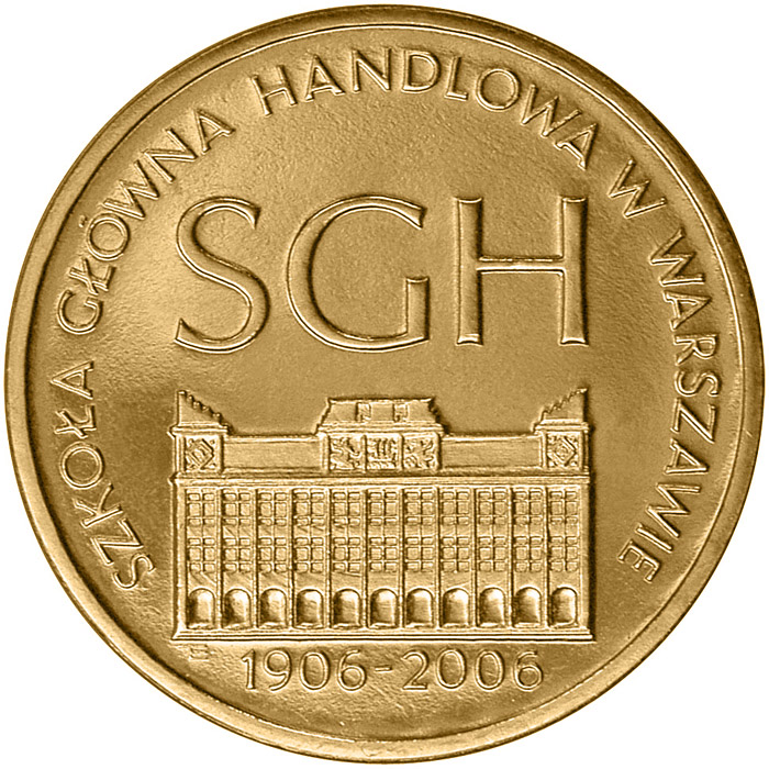 Image of a coin 2 zloty | Poland | The Centenary of the Warsaw School of Economics  | 2006