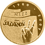 2 zloty coin The 25th Anniversary of forming the Solidarity Trade Union  | Poland 2005