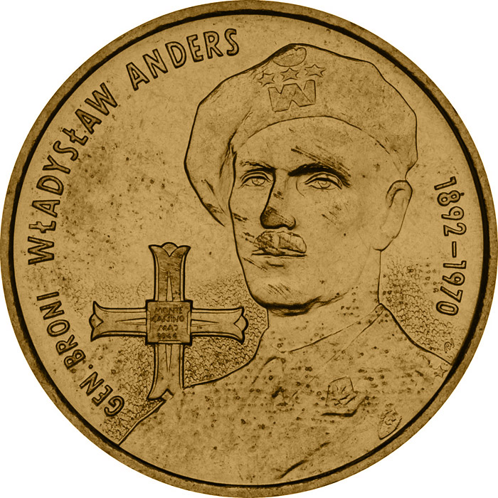 2 zloty General Wladyslaw Anders  - 2002 - Series: Commemorative 2 zloty coins - Poland
