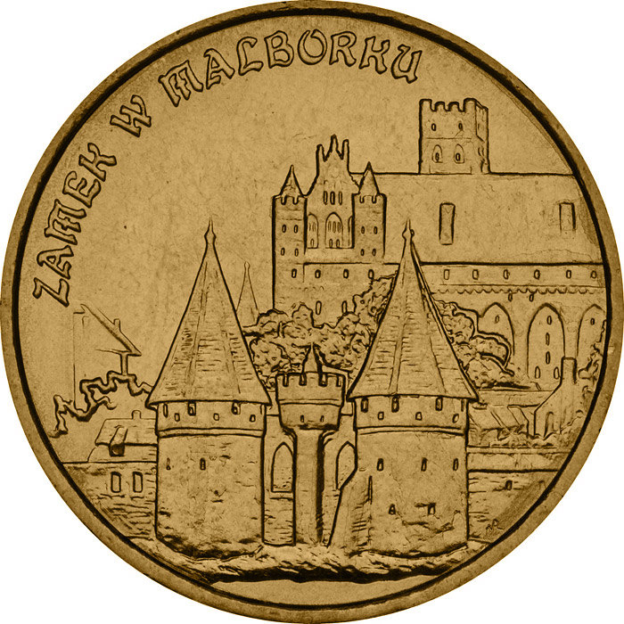 Image of a coin 2 zloty | Poland | Castle in Malbork  | 2002