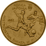 2 zloty coin 2002 World Football Cup Korea/Japan  | Poland 2002