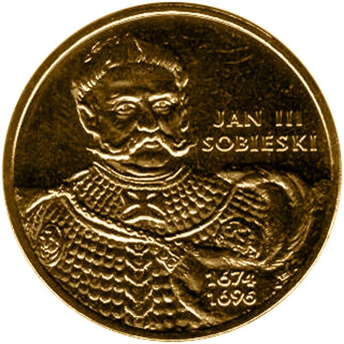 Image of 2 zloty coin Jan III Sobieski (1674-1696)  | Poland 2001.  The Nordic gold (CuZnAl) coin is of UNC quality.