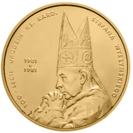 Image of a coin 2 zloty | Poland | 100th centenary of Priest Cardinal Stefan Wyszyński's birth | 2001