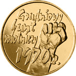 2 zloty coin 30th Anniversary of December Events in 1970 | Poland 2000