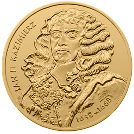 Image of 2 zloty coin - Jan II Kazimierz (1648 - 1668)  | Poland 2000.  The Nordic gold (CuZnAl) coin is of UNC quality.