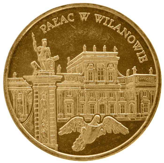 Image of a coin 2 zloty | Poland | Palace in Wilanów  | 2000