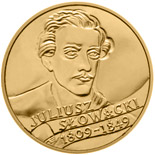 2 zloty coin 150th anniversary of Juliusz Slowacki's death (1809 - 1849)  | Poland 1999