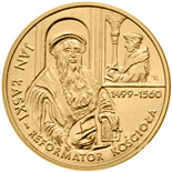 2 zloty coin 500th anniversary of birth of Jan Łaski  | Poland 1999
