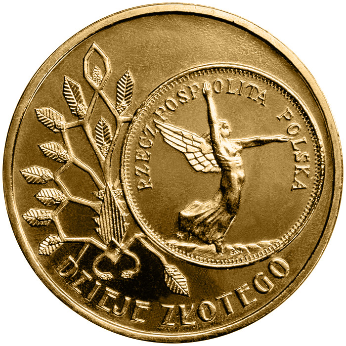 Image of 2 zloty coin - 5 zloty of 1928 issue  | Poland 2007.  The Nordic gold (CuZnAl) coin is of UNC quality.
