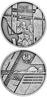20 zloty The Ulma, Baranek and Kowalski Families - 2012 - Series: Poles Who Saved the Jews - Poland