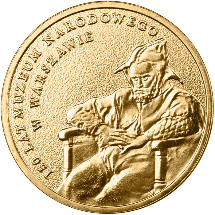 Image of 2 zloty coin – 150 Years of the National Museum in Warsaw | Poland 2012.  The Nordic gold (CuZnAl) coin is of UNC quality.