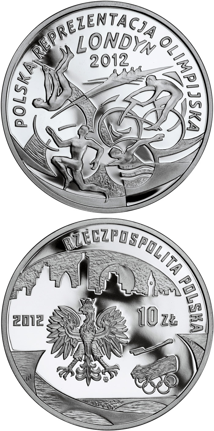 Image of a coin 10 zloty | Poland | Polish Olympic Team – London 2012 | 2012