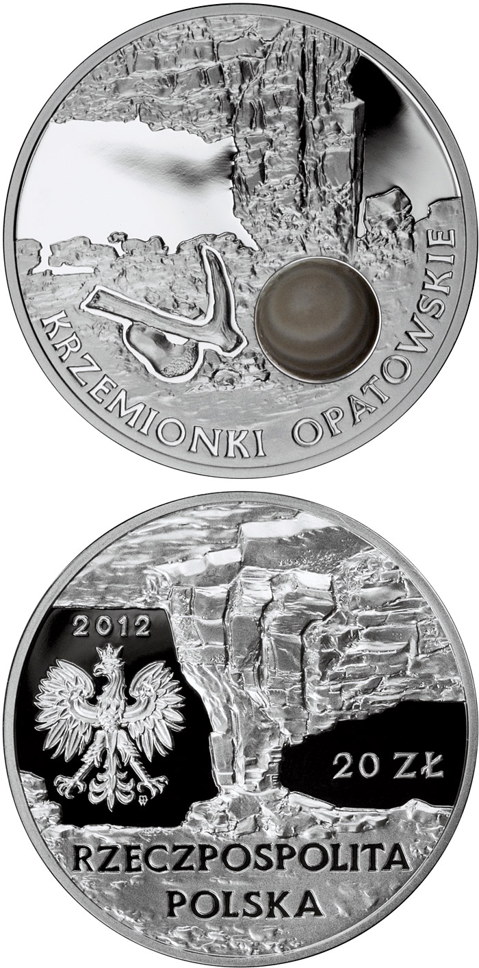 Image of 20 zloty coin - Krzemionki Opatowskie | Poland 2012.  The Silver coin is of Proof quality.