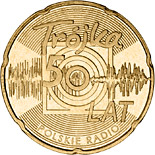 2 zloty coin 50 Years of the Third Programme of the Polish Radio | Poland 2012