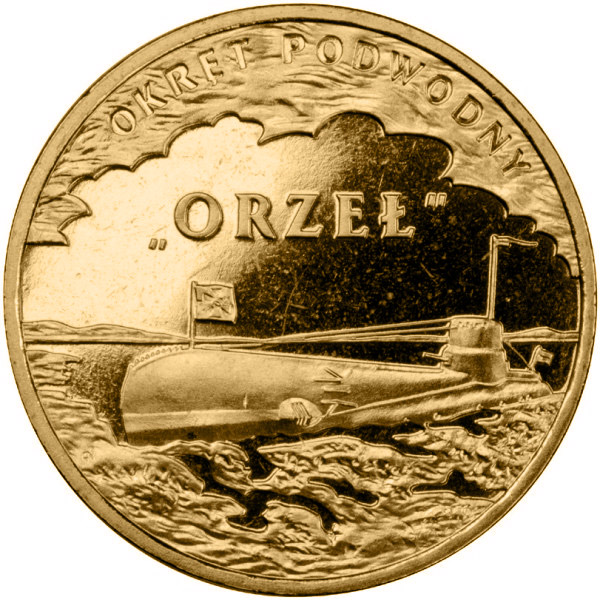 Image of 2 zloty coin - ORP Orzeł | Poland 2012.  The Nordic gold (CuZnAl) coin is of UNC quality.