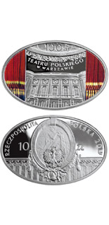 10 zloty coin Centenary of the Polish Theatre in Warsaw | Poland 2013