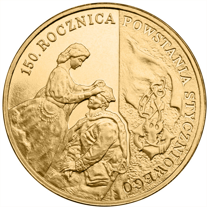 Image of a coin 2 zloty | Poland | 150th Anniversary of the January 1863 Uprising | 2013