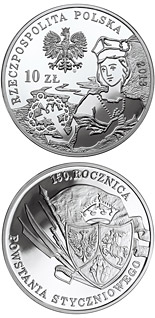 10 zloty coin 150th Anniversary of the January 1863 Uprising | Poland 2013