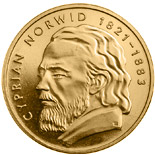 10 zloty coin Cyprian Norwid | Poland 2013