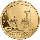 2 zloty coin Lublin Class Minelayer-landing Ship | Poland 2013