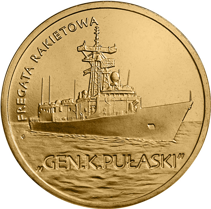 2 zloty Pulaski Guided-missile Frigate - 2013 - Series: Polish Ships - Poland