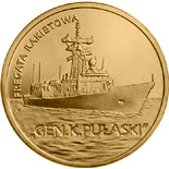 2 zloty coin Pulaski Guided-missile Frigate | Poland 2013