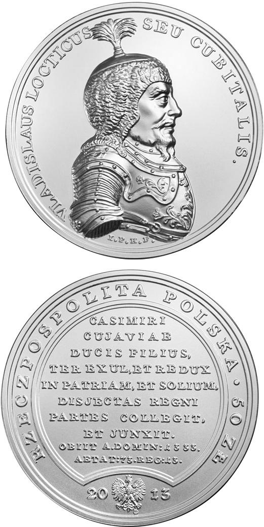 Image of 50 zloty coin - Wladyslaw the Short  | Poland 2013.  The Silver coin is of BU quality.