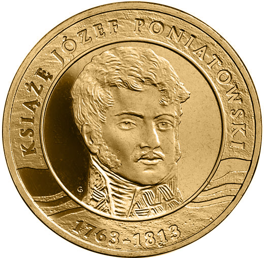 Image of 2 zloty coin - 200th Anniversary of the Death of Prince Józef Poniatowski | Poland 2013.  The Nordic gold (CuZnAl) coin is of UNC quality.