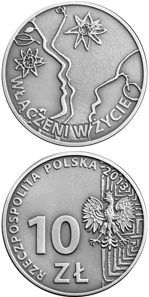10 zloty 50th anniversary of the Polish Society for the Mentally Handicapped - 2013 - Poland