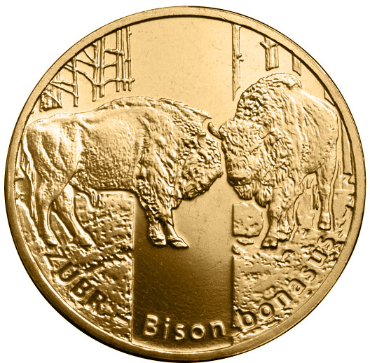 Image of 2 zloty coin - Wisent (Bison bonasus) | Poland 2013
