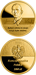 200 zloty coin Centenary of the birth of Jan Karski  | Poland 2014
