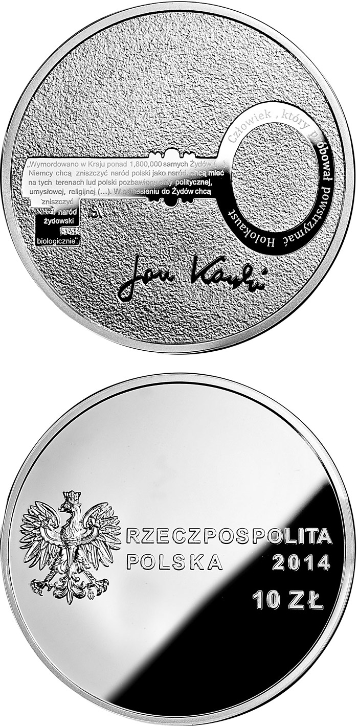 10 zloty | Poland | Centenary of the birth of Jan Karski  | 2014