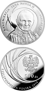 500 zloty coin Canonisation of John Paul II, 27 IV 2014 | Poland 2014