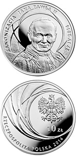 10 zloty coin Canonisation of John Paul II, 27 IV 2014 | Poland 2014