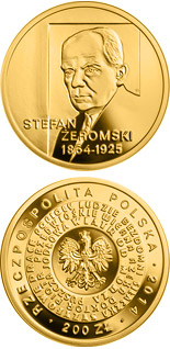200 zloty coin 150th anniversary of the birth of Stefan Żeromski | Poland 2014