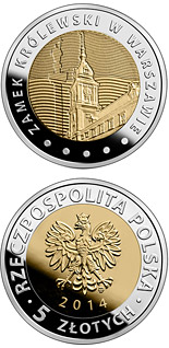 5 zloty coin The Royal Castle in Warsaw  | Poland 2014