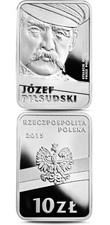 10 zloty coin 100th Anniversary of Regaining Independence by Poland – Józef Piłsudski | Poland 2015