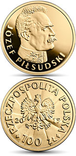100 zloty coin 100th Anniversary of Regaining Independence by Poland – Józef Piłsudski | Poland 2015