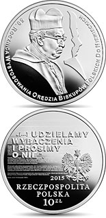 10 zloty coin 50th Anniversary of the Letter of Reconciliation of the Polish Bishops to the German Bishops  | Poland 2015
