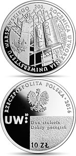 10 zloty coin 200th Anniversary of the Establishment of the University of Warsaw | Poland 2016