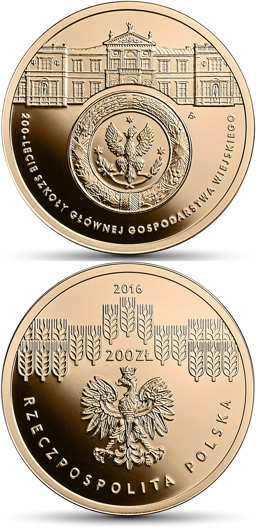 200 zloty Bicentenary of the Warsaw University of Life Sciences – SGGW - 2016 - Poland