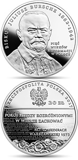 20 zloty coin Five Centuries of the Reformation in Poland  | Poland 2017
