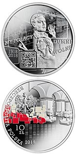 10 zloty coin We Poles, proud and free: 1918-2018 | Poland 2018